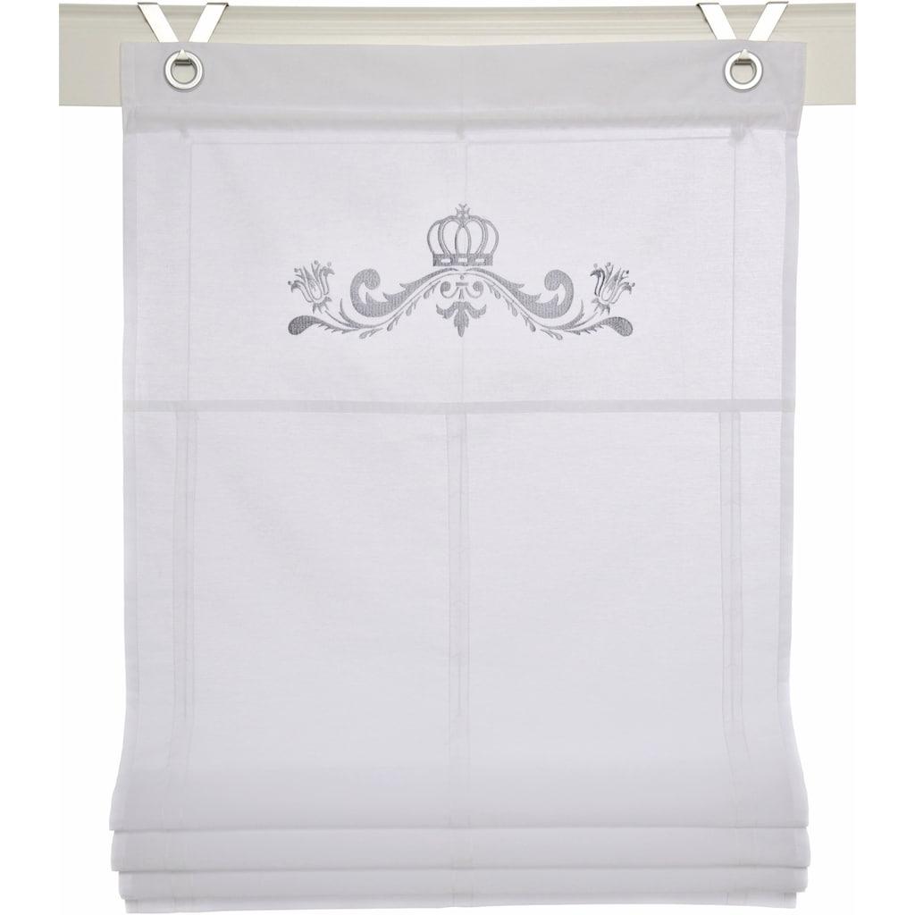 Kutti Raffrollo »Kessy Crown«, mit Hakenaufhängung, ohne Bohren