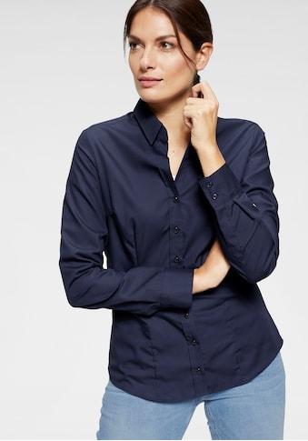 Seidensticker schwarze Rose Klassische Bluse, unifarben, mit langen Ärmeln kaufen