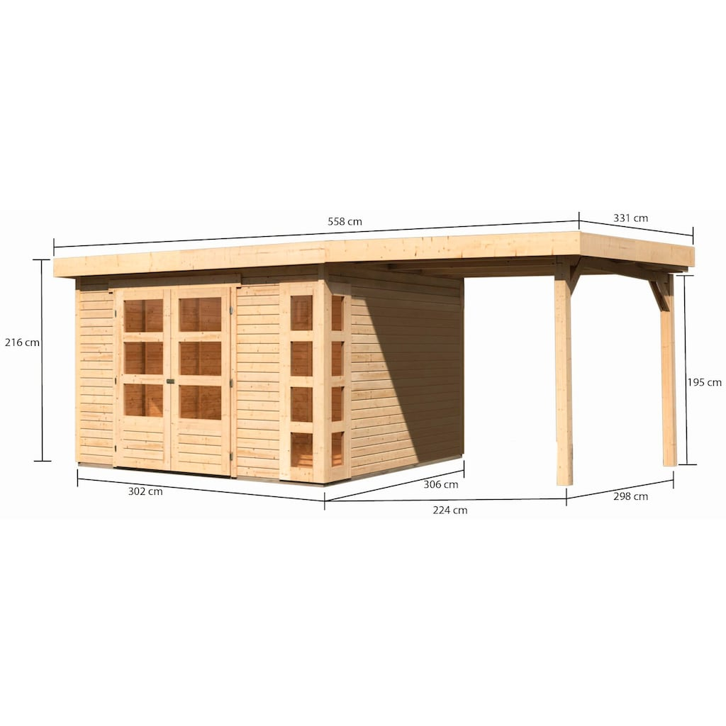 KONIFERA Gartenhaus »Nordsee 6«