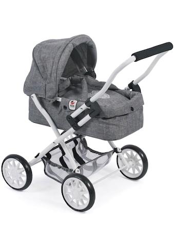 CHIC2000 Puppenwagen »Smarty, Jeans Grey«, mit herausnehmbarer Tragetasche kaufen
