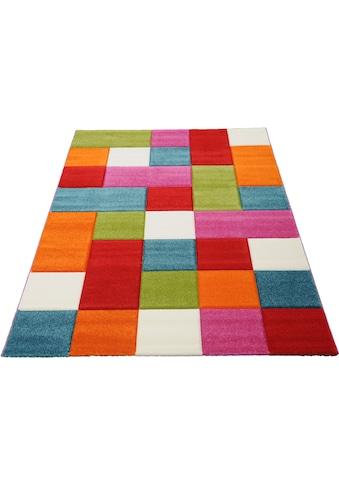merinos Teppich »GENIL«, rechteckig, 13 mm Höhe, handgearbeiteter Konturenschnitt kaufen