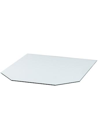 Heathus Bodenschutzplatte, Sechseck, 85 x 100 cm, transparent, zum Funkenschutz kaufen