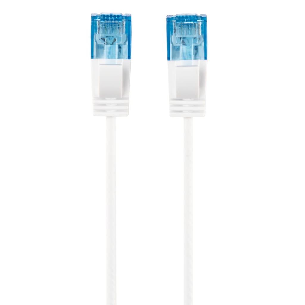 """Hama CAT-6-Netzwerkkabel """"Slim-Flexible"""", Weiß, 1,50 m"""