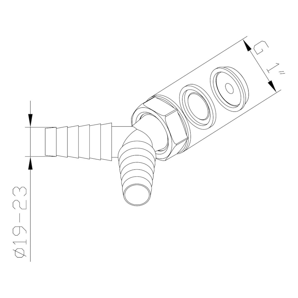 Xavax Doppelanschluss für Waschmaschine u. Spülmaschine Schlauch