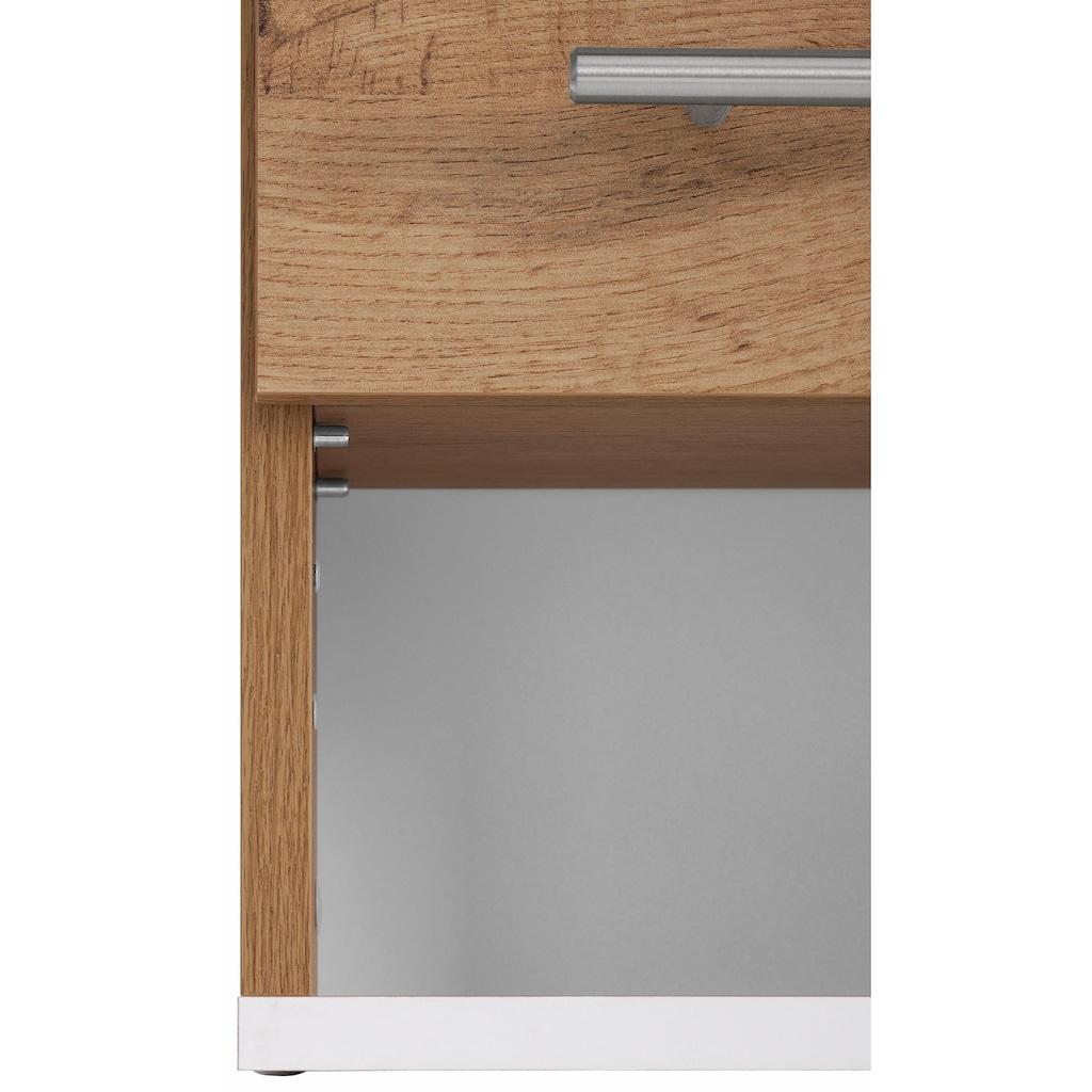 Schildmeyer Hängeschrank »Rhodos«, Breite 60 cm, verstellbarer Einlegeboden, Metallgriffe, 1 offenes Fach & 2 Türen