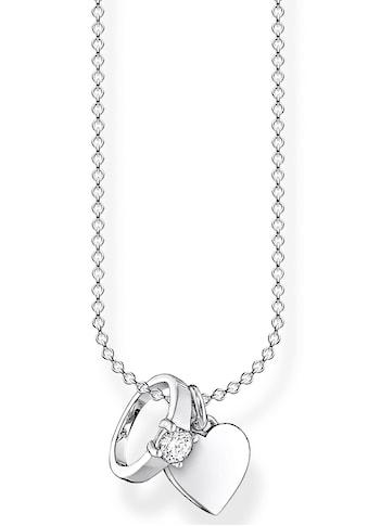 THOMAS SABO Kette mit Anhänger »Ring mit Herz, KE2064-051-14-L45v«, mit Zirkonia kaufen