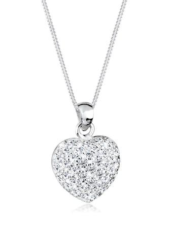 Elli Collierkettchen »Herz Anhänger mit Kristalle 925 Silber« kaufen