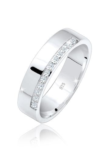 Elli Verlobungsring »Bandring Basic Diamanten (0.06 ct.) 925 Silber« kaufen