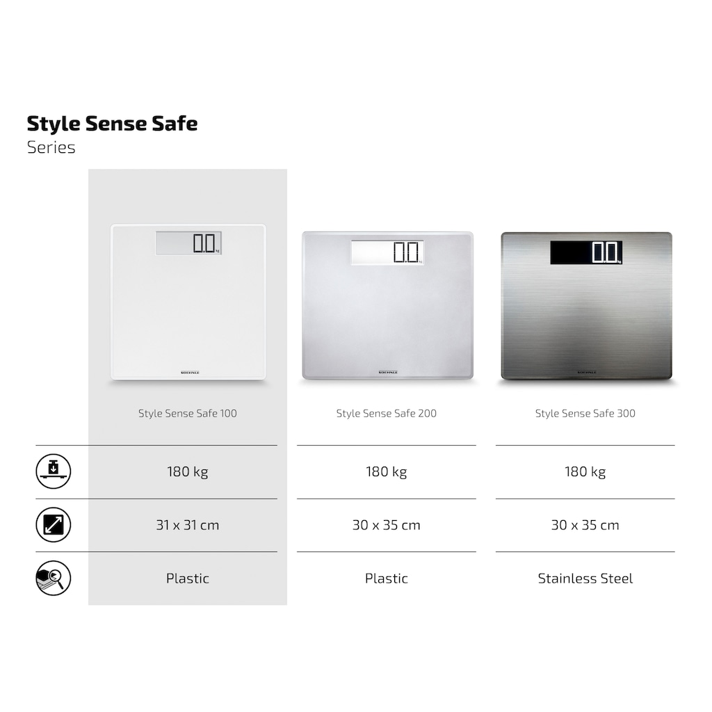 Soehnle Personenwaage »PWD Style Sense Safe 100«