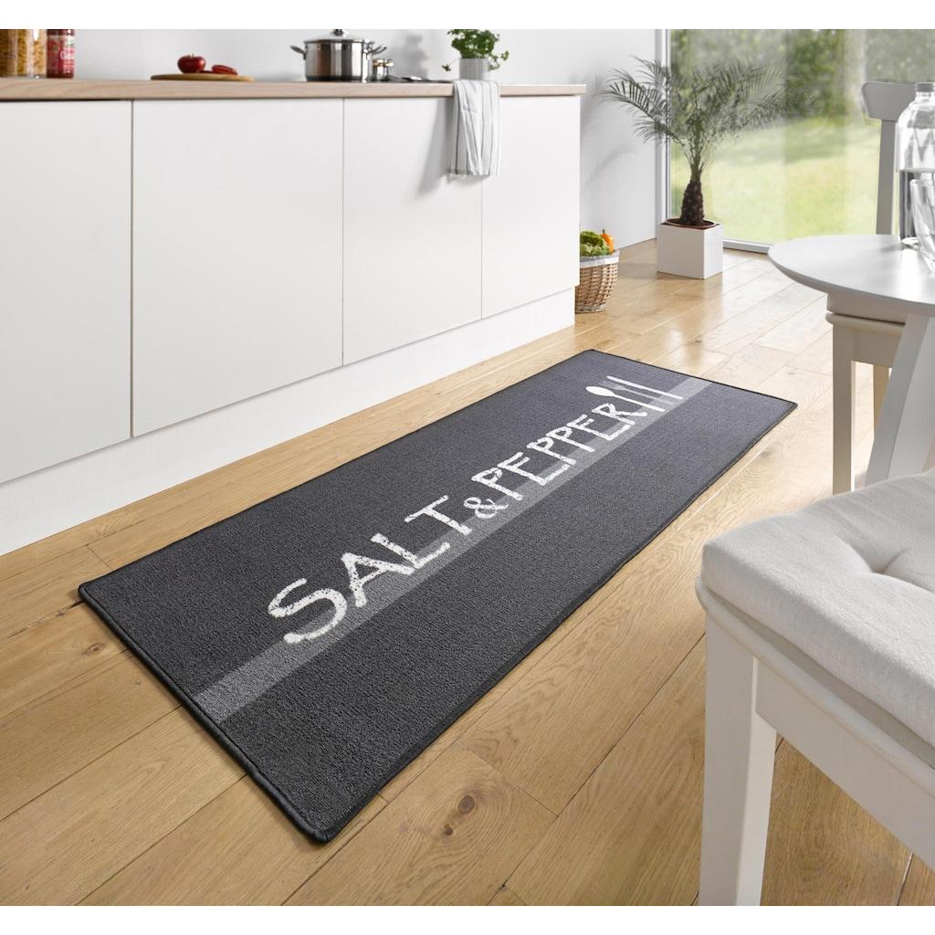 HANSE Home Küchenläufer »Salt & Pepper«, rechteckig, 8 mm Höhe, Kurzflor, rutschhemmend