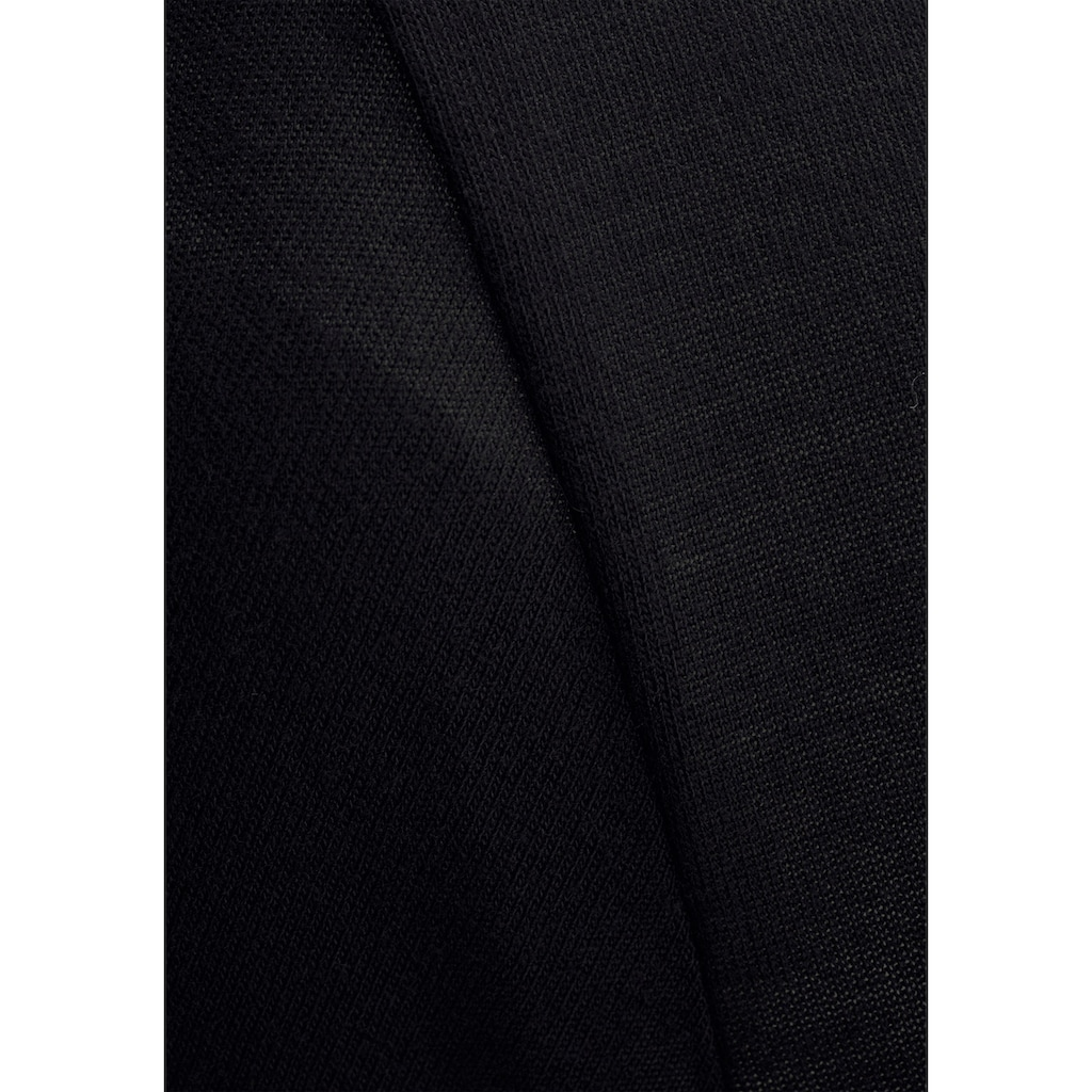 LASCANA Longshirt, mit Schlitzen an den Ärmeln