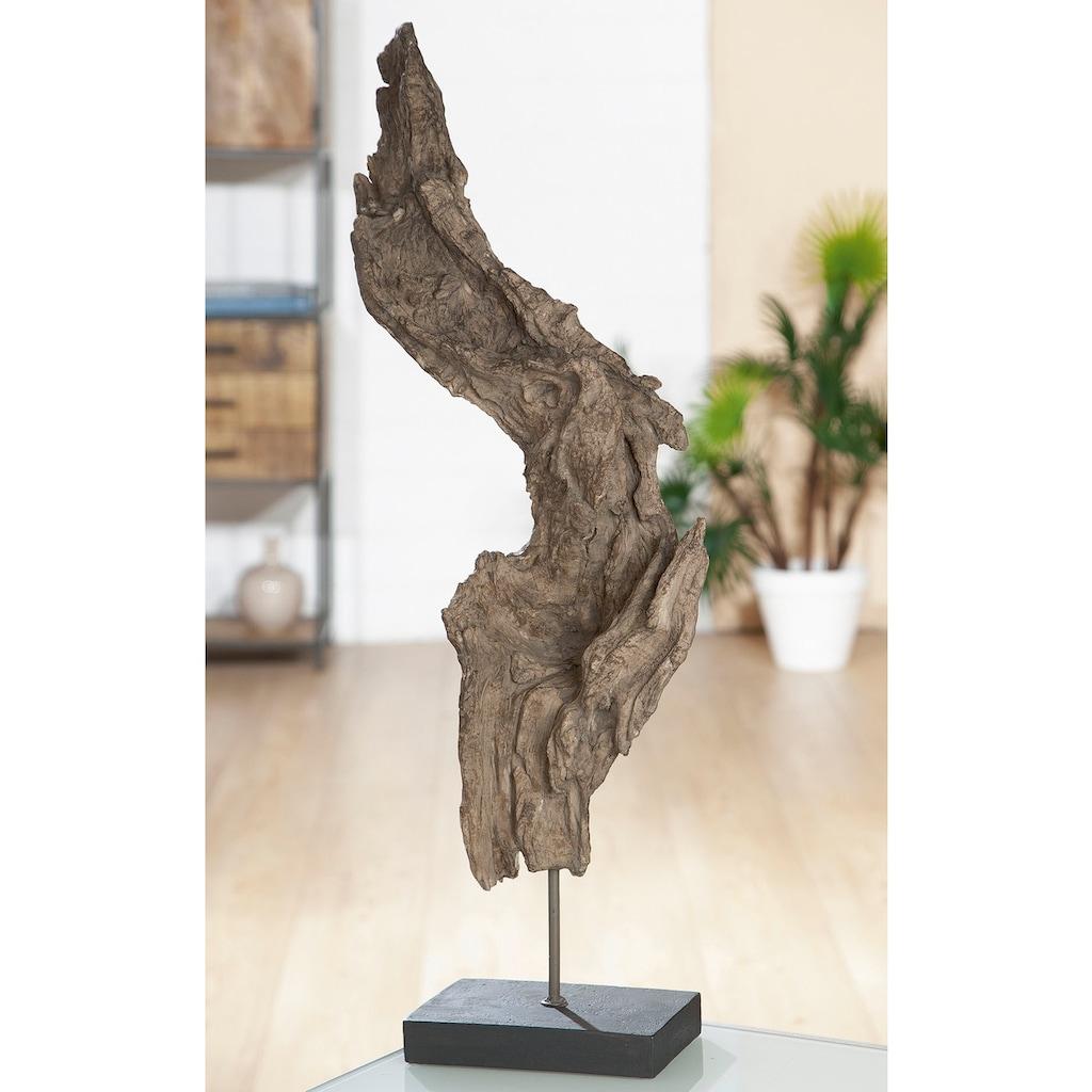GILDE Dekoobjekt »Baumwurzel«, Höhe 69 cm, in Treibholz-Optik, Wohnzimmer