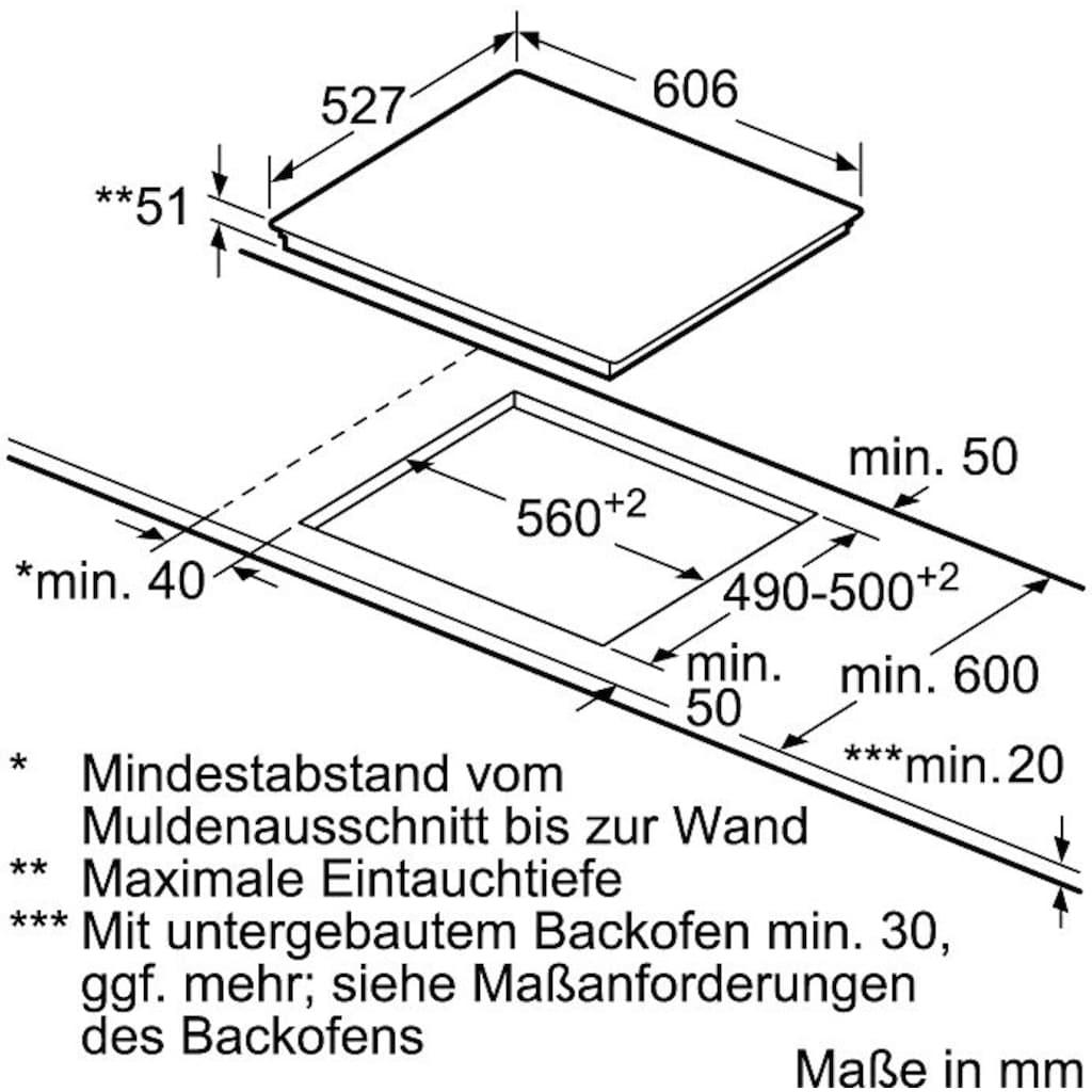 BOSCH Flex-Induktions-Kochfeld von SCHOTT CERAN®, PXX675DC1E, mit PerfectFry-Bratsensor