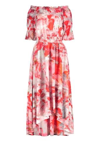 Nicowa Kleid NERMINI mit Carmenaussschnitt und Batik-Muster kaufen