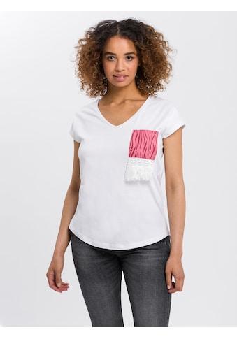 Cross Jeans® T-Shirt »55787«, Dekorative Brusttasche kaufen