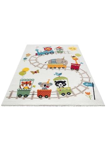 Lüttenhütt Kinderteppich »Zoo-Zug«, rechteckig, 13 mm Höhe, Spielteppich, Kinderzimmer kaufen