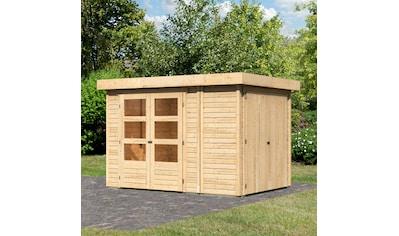 WOODFEELING Gartenhaus »Retola 2«, BxT: 317x238 cm, mit Anbauschrank kaufen