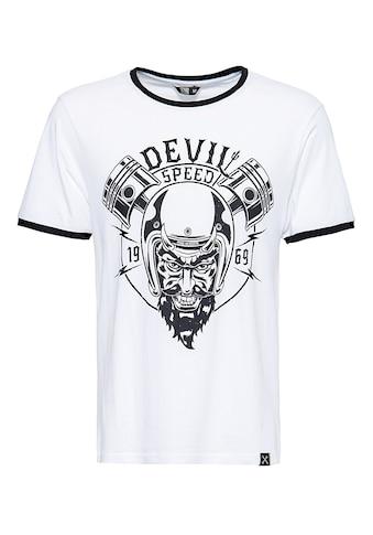 KingKerosin Print-Shirt »Speed Devil«, in angesagter Ringer Optik kaufen