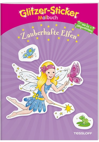 Buch »Glitzer-Sticker Malbuch Zauberhafte Elfen / Corina Beurenmeister, Tessloff... kaufen