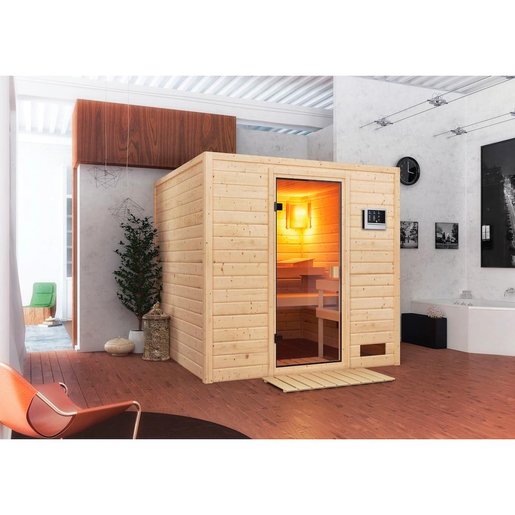 Karibu Sauna »Jacky«, 4,5-kW-Ofen mit ext. Steuerung