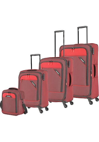 travelite Trolleyset »Derby, rot«, mit Bordtasche kaufen