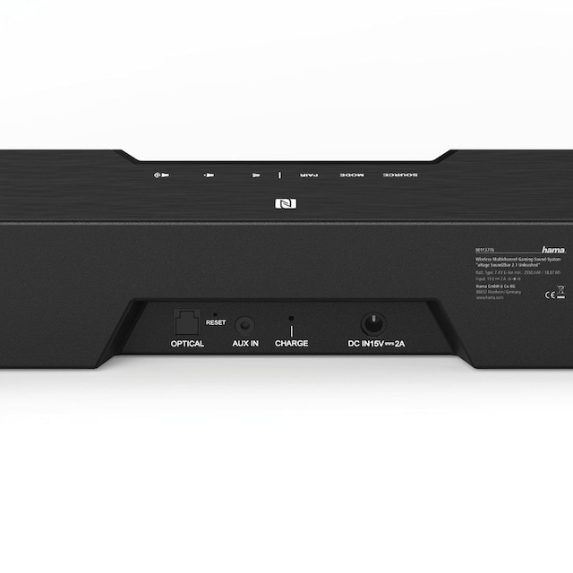 uRage Gaming Soundbar m. Subwoofer, 2.1 Soundsystem, wireless/AUX »uRage SoundZbar 2.1 Unleashed«