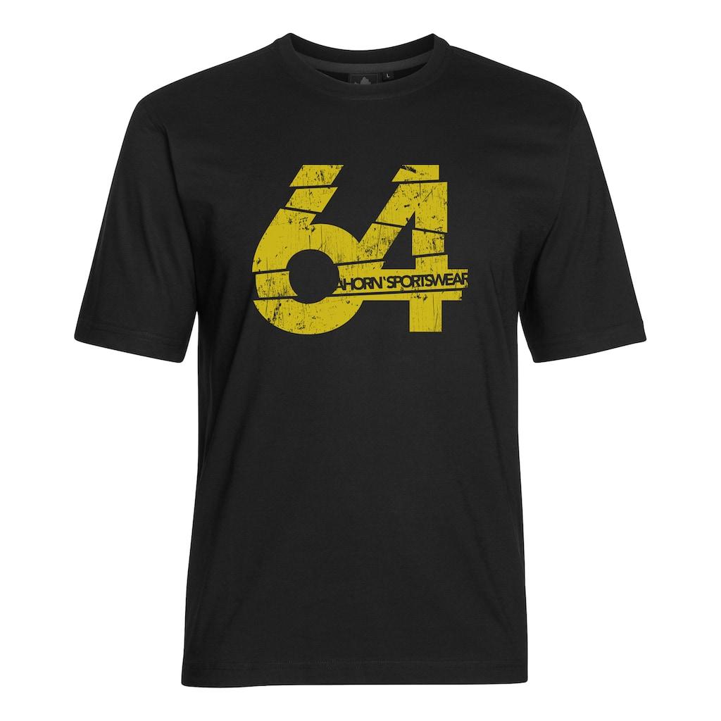 AHORN SPORTSWEAR T-Shirt »NUMBER 64«, mit modischem Frontprint