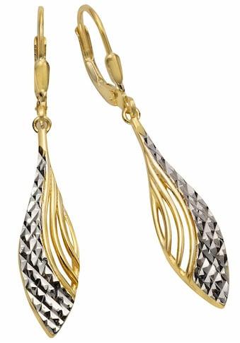Firetti Paar Ohrhänger »Tropfenform, zweifarbig, strukturiert« kaufen