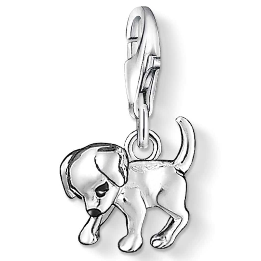 THOMAS SABO Charm-Einhänger »Hunde-Welpe, 0885-007-12«, mit Emaille