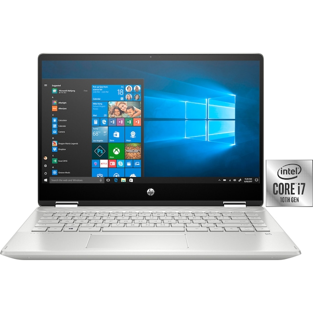 HP Pavilion x360 Convertible Notebook (35,56 cm / 14 Zoll, Intel,Core i7, 512 GB SSD)