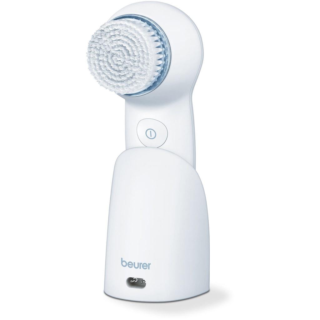 BEURER Elektrische Gesichtsreinigungsbürste »FC 65«, mit blauem LED gegen Hautunreinheiten