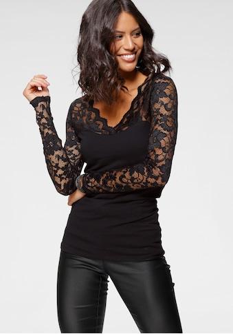 Laura Scott Spitzenshirt, mit Ärmeln aus Spitze kaufen