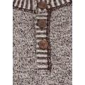 Solid Strickpullover »Thiago«, Strickpulli mit Holzknopf-Leiste