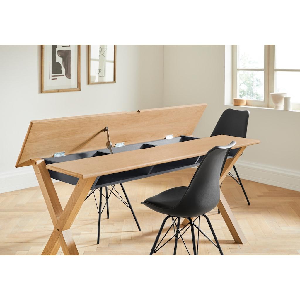 andas Esszimmerstuhl »Edel«, in zwei verschiedenen Bezugsqualitäten und weiteren Farbvarianten, Sitzhöhe 49 cm