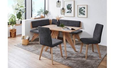 SCHÖSSWENDER Eckbankgruppe »Maia«, (4 tlg.), Eckbank ist umstellbar, Tisch mit Auszug kaufen
