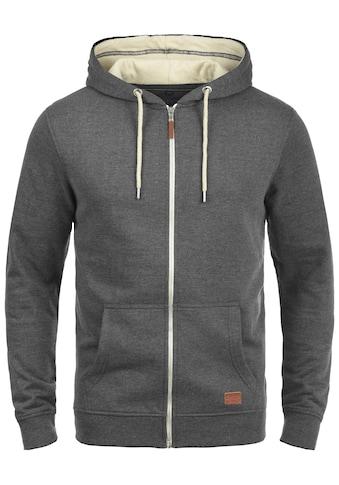 Blend Kapuzensweatjacke »Hulker«, Sweatshirtjacke mit weicher Fleece Innenseite kaufen