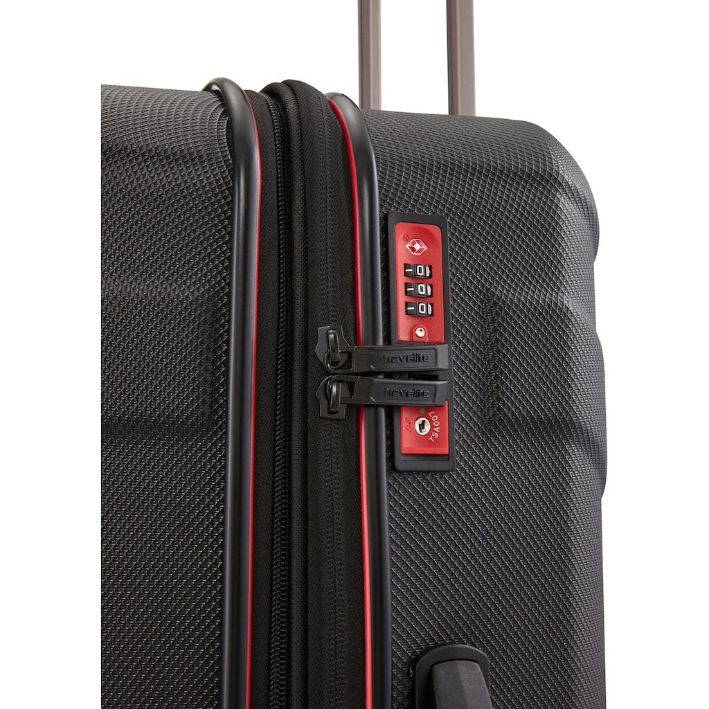 travelite Hartschalen-Trolley »Vector, 55 cm, schwarz«, 2 Rollen