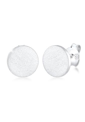 Kuzzoi Paar Ohrstecker »Herren Stecker Basic Geo Brushed Trend 925 Silber« kaufen
