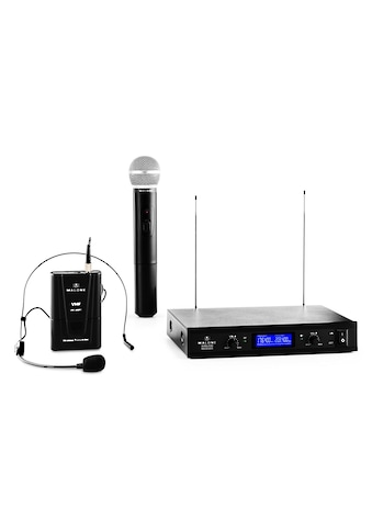 Malone 2 Kanal VHF Funkmikrofon Set Kabellos Wireless Headset Handmikro »VHF 400 DUO 3« kaufen