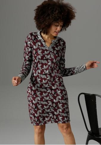 Aniston SELECTED Jerseykleid, im Muster-Mix - NEUE KOLLEKTION kaufen
