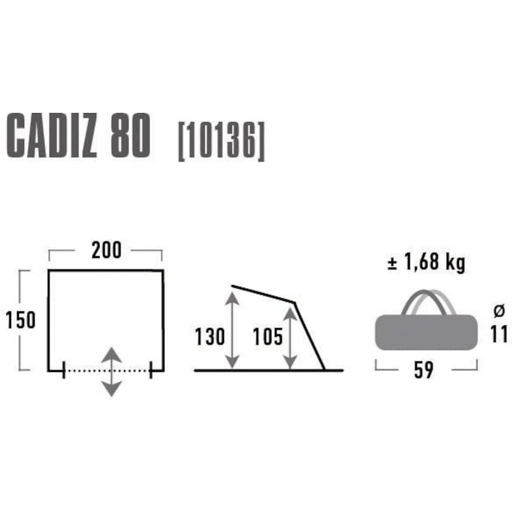 High Peak Strandmuschel »Cadiz 80«, (mit Transporttasche)