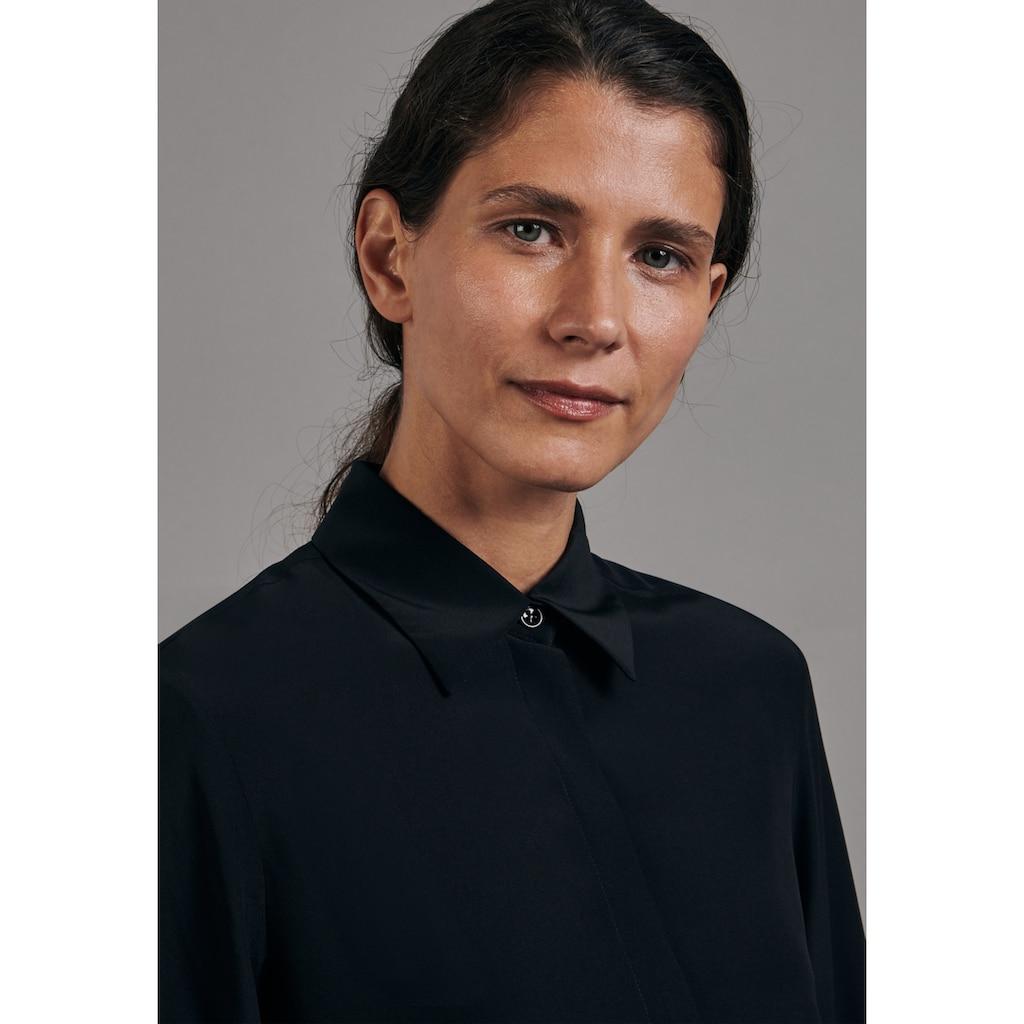 seidensticker Hemdbluse »Schwarze Rose«, Langarm Kragen Uni