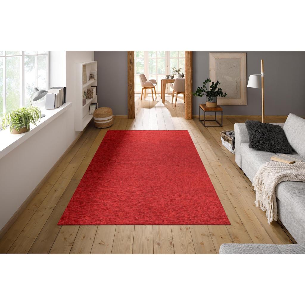 my home Teppich »Piero«, rechteckig, 2 mm Höhe, angenehm weich, Wohnzimmer