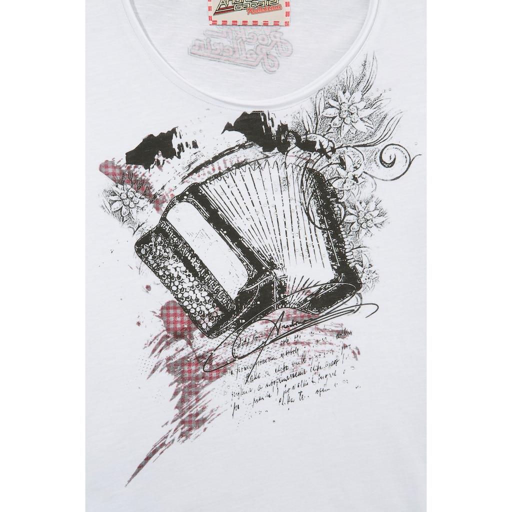 Andreas Gabalier Kollektion Trachtenshirt, Damen, mit sprechendem und animierten AR-Print