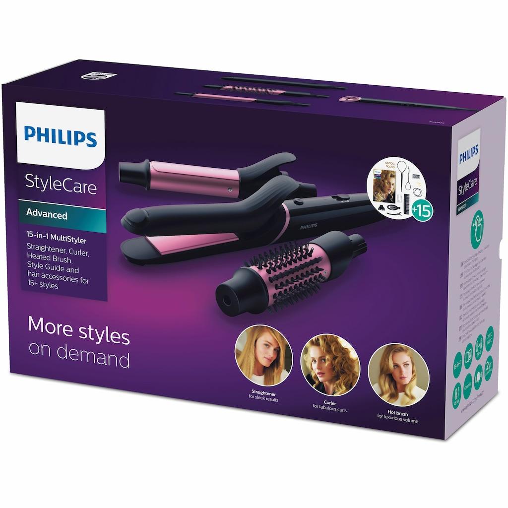 Philips Multihaarstyler »BHH822/00«, 3 Aufsätze}, Haarglätter, Lockenstab und Heizbürste in einem Produkt