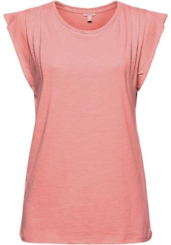 Esprit T-Shirt, mit Flügelarm und Lochmuster kaufen
