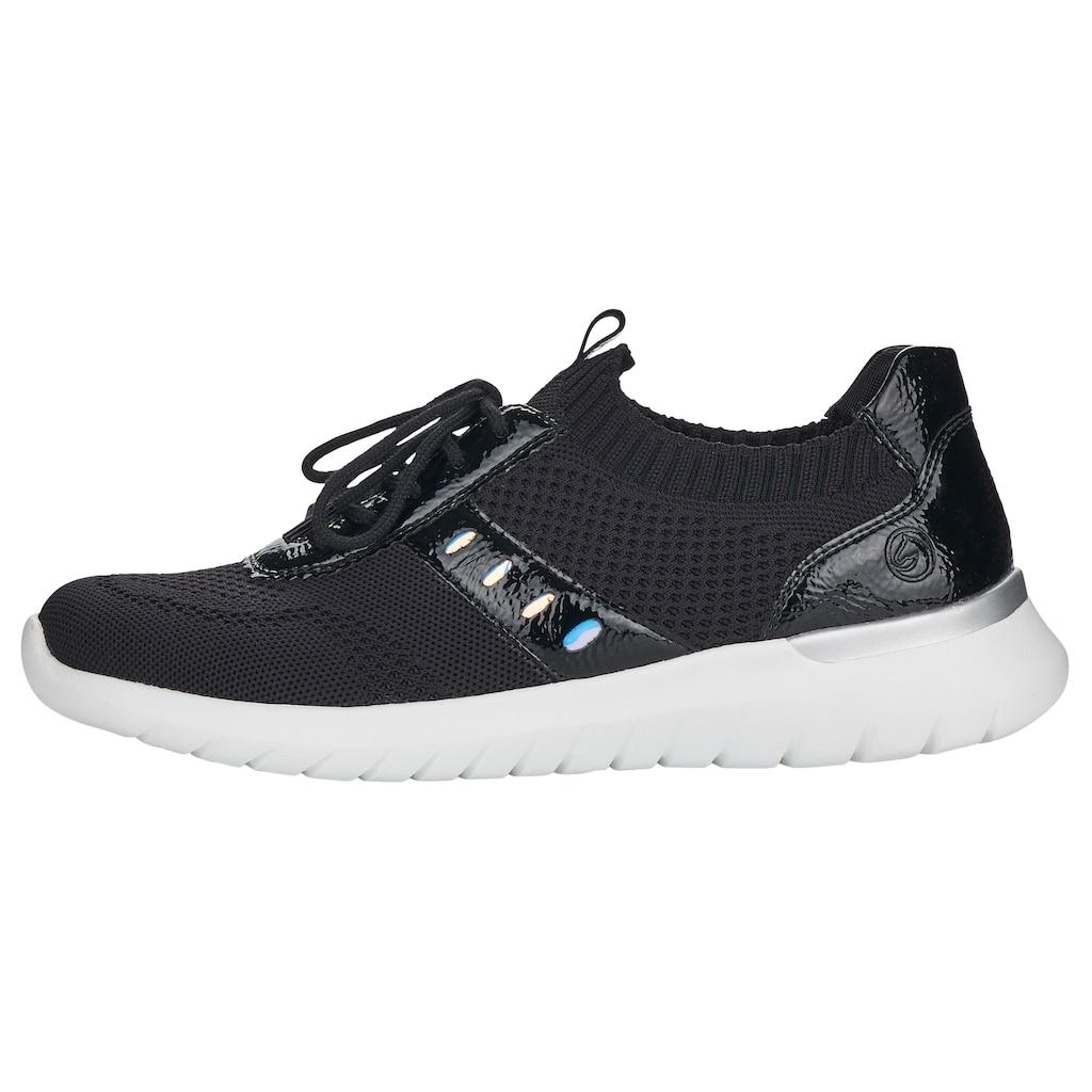 Remonte Slip-On Sneaker, mit aufgesetzter Schnürung
