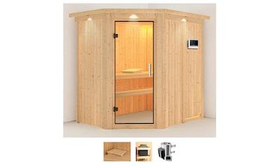 Karibu Sauna »Swantje«, 3,6-kW-Plug & Play Ofen mit externer Steuerung kaufen