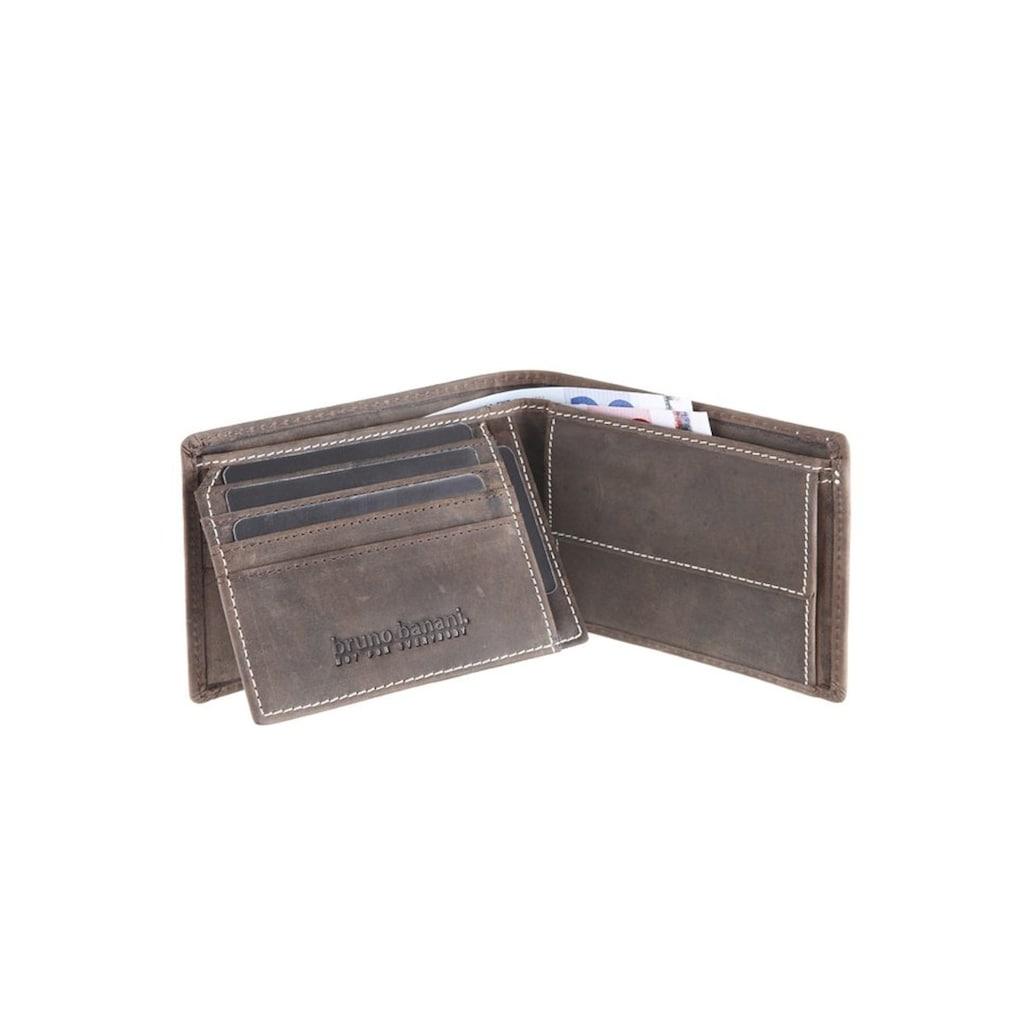Bruno Banani Geldbörse, aus Leder mit Ziernähten