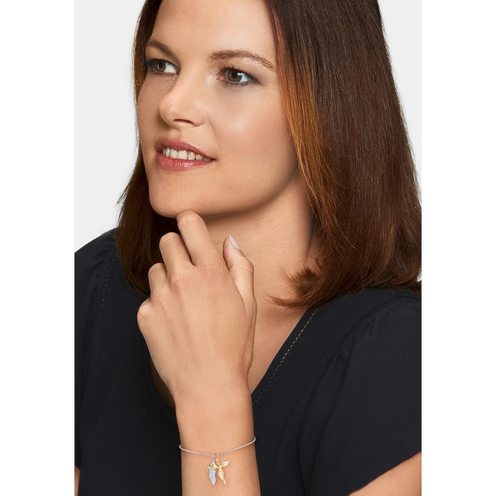 Engelsrufer Armband »Feder & Engel, ERB-FEDER-ANGEL-BIG, ERB-FEDER-ANGEL-BIR, ERB-FEDER-ANGEL-ZI«, mit Zirkonia (synth.)